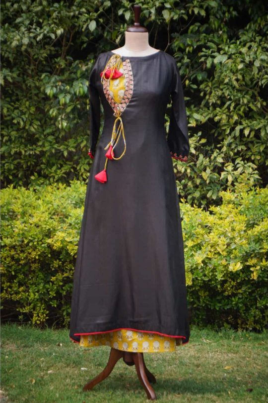 Pashmina double layer dress