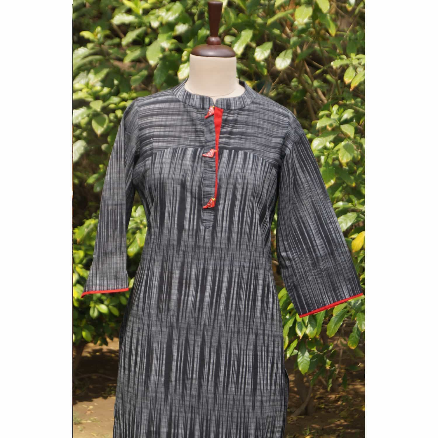 South cotton black kurta