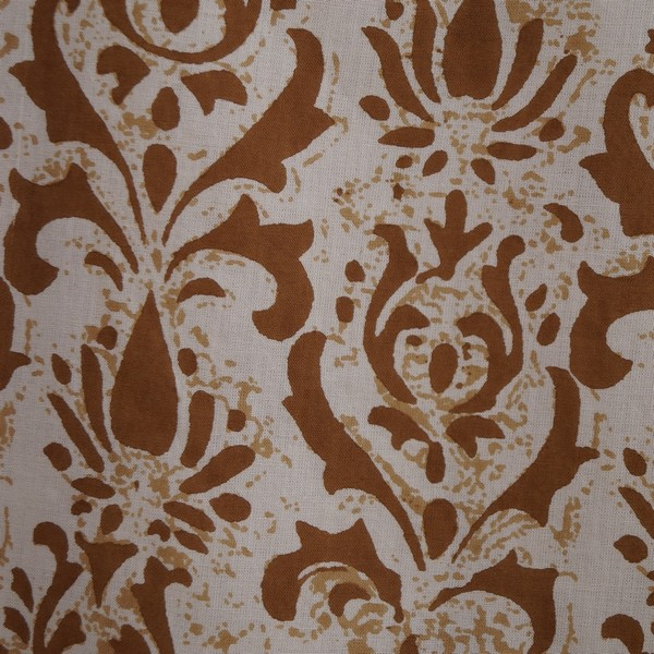 Beige-Brown Block Print WA199C