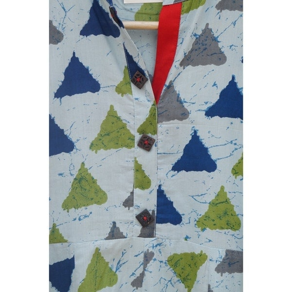Triangle Block-print A-line