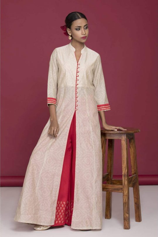 Banarsi thread kurta with palazzo