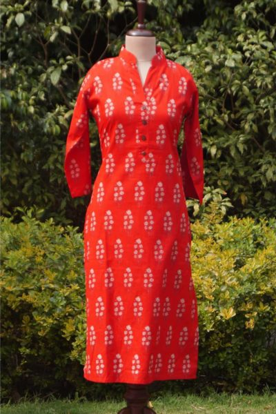 Red Stright Fit Front 1