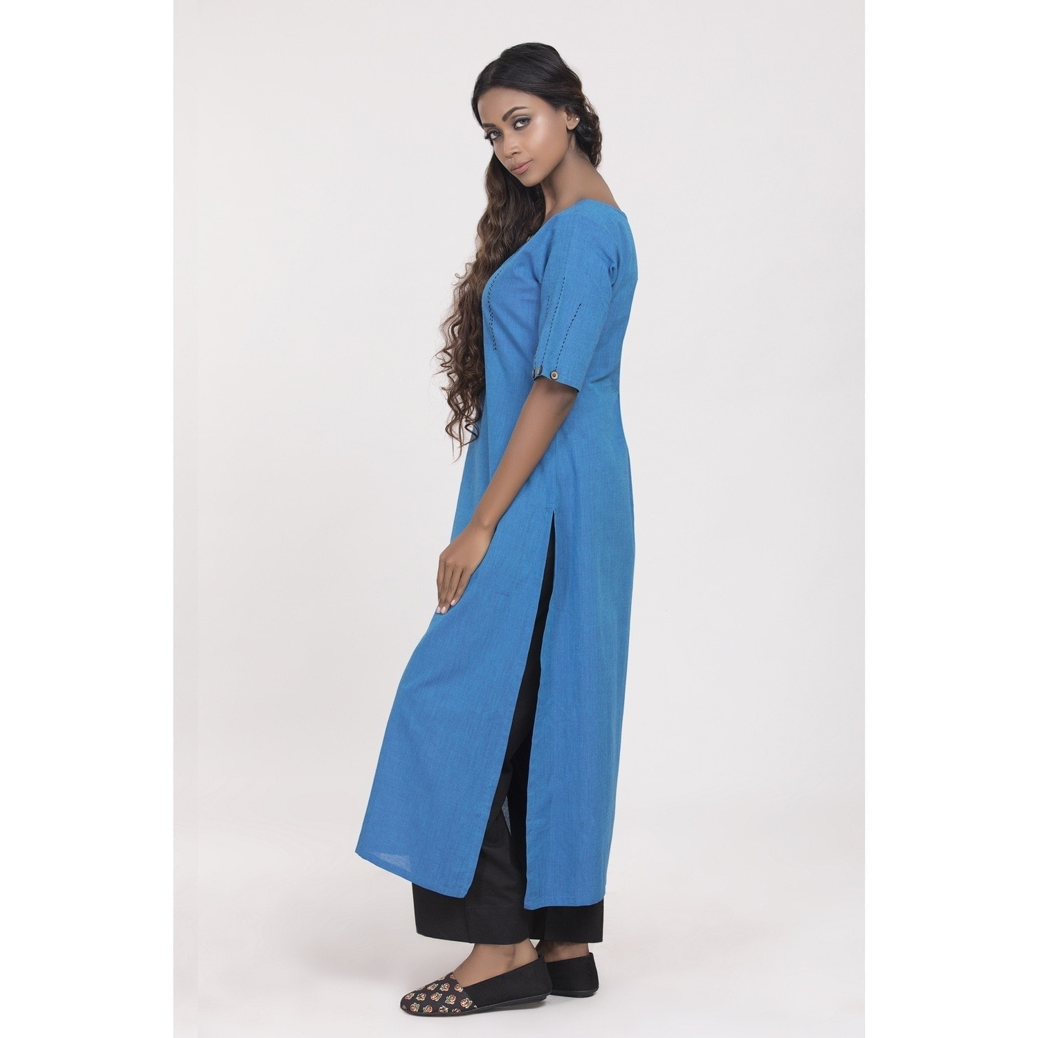 South cotton blue kurta