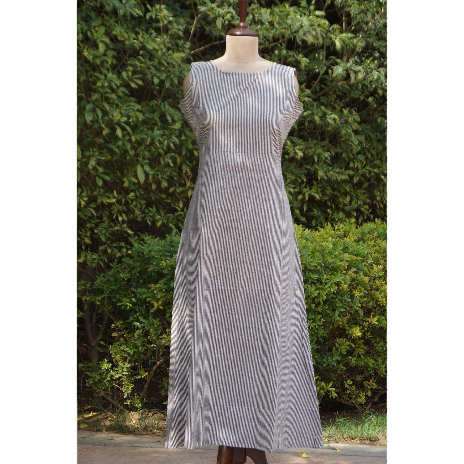 Grey white double layer dress