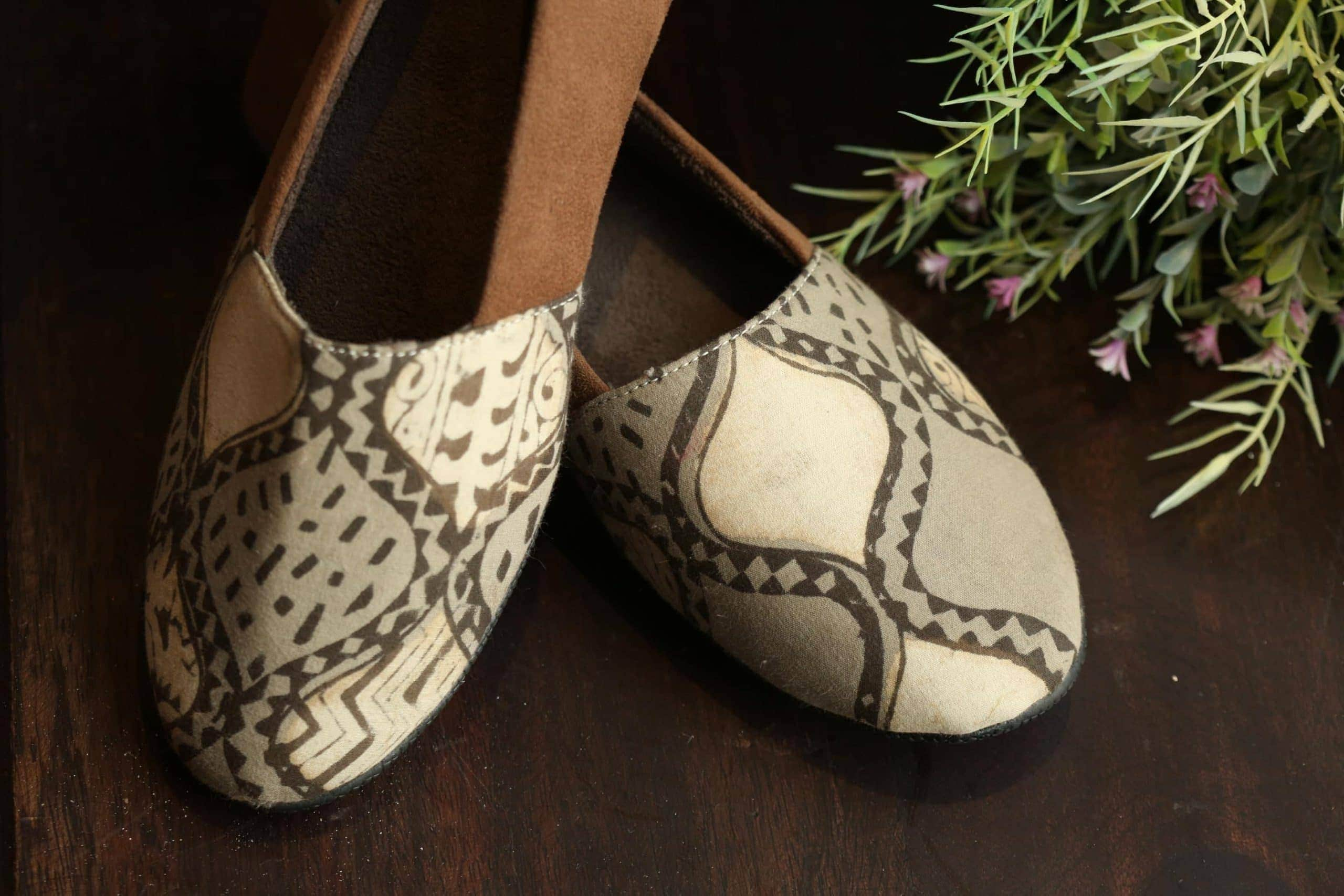 Brown Printed Shoes 1 Scaled