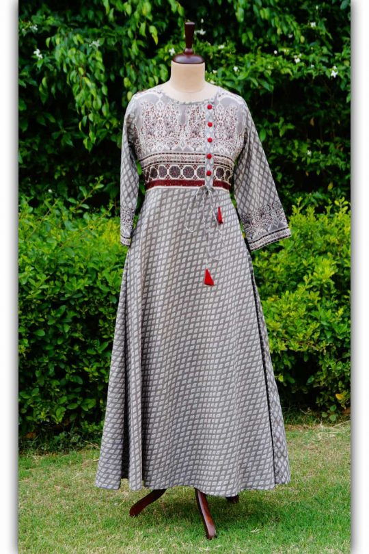 Kalamkari Block Print Dress