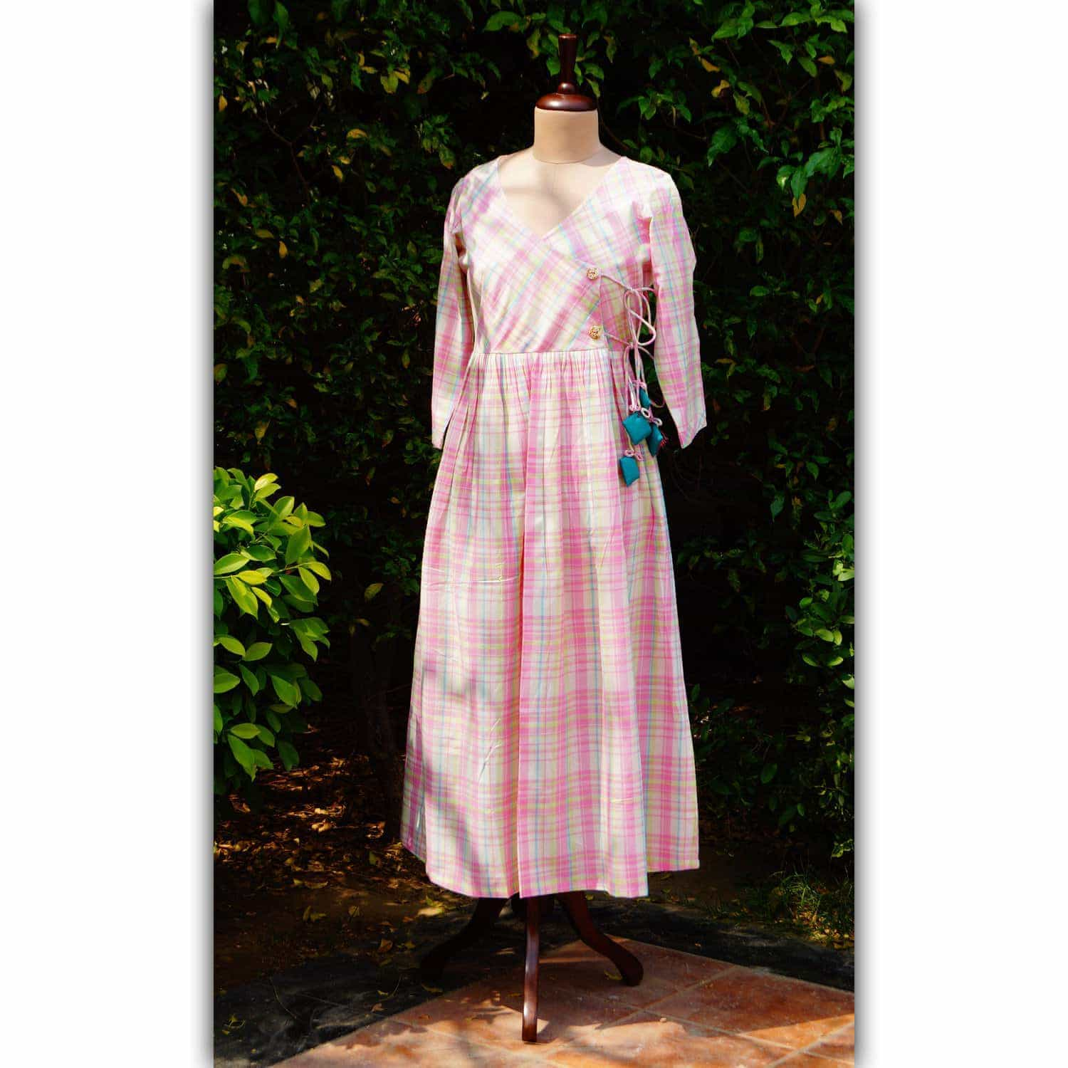 Pink Checks Dress