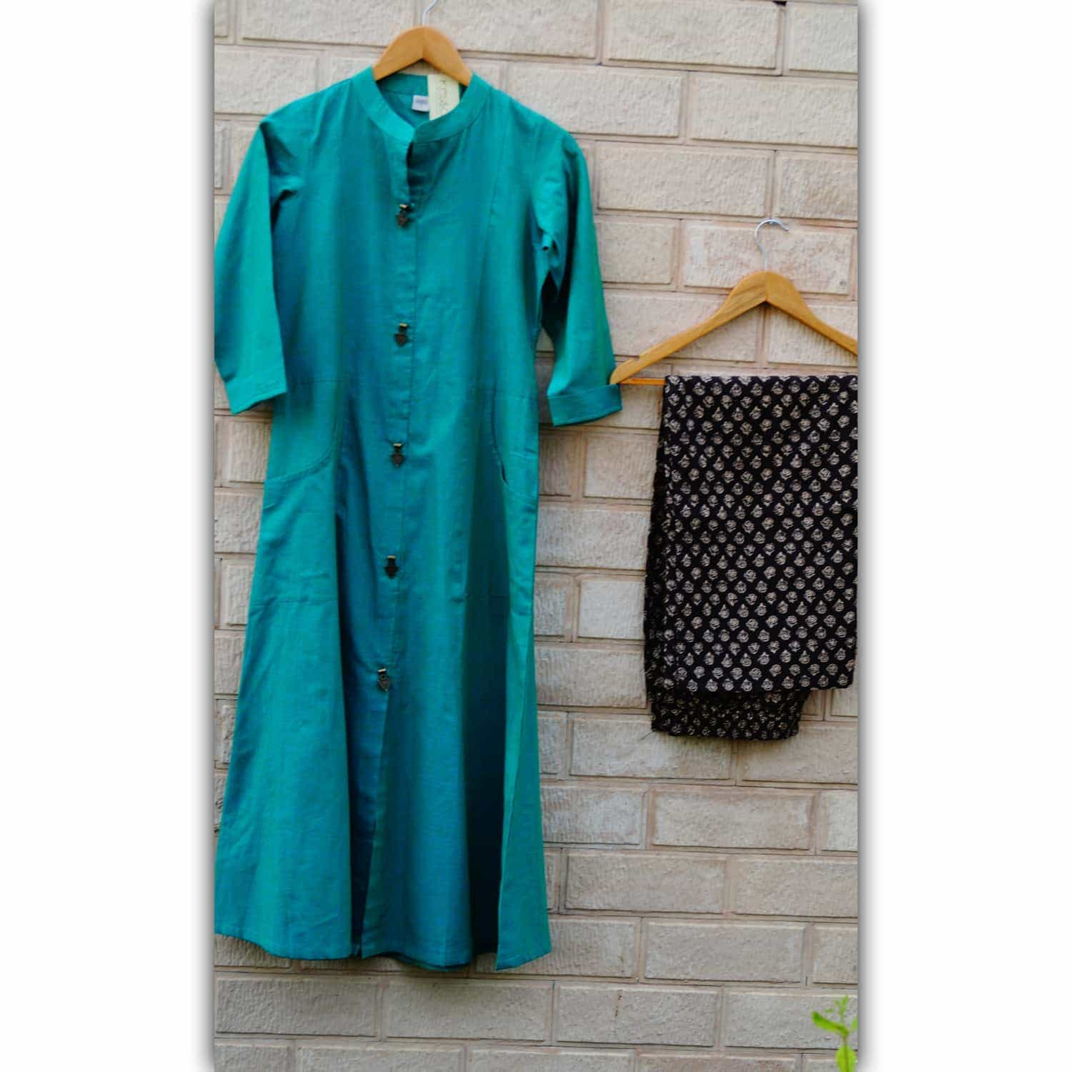 Solid Green Kurta