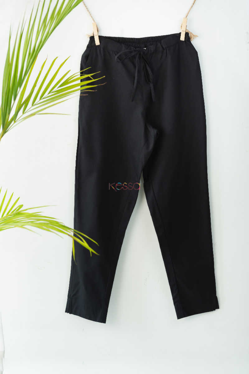 Wsp01 Pants With Pocket Elasticated Waist Black Featured