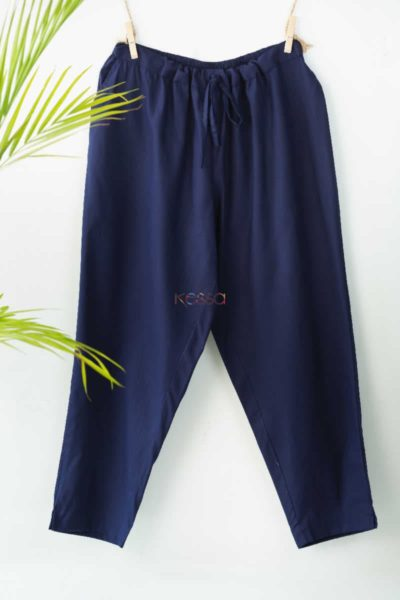 Wsp01 Pants With Pocket Elasticated Waist Blue Featured