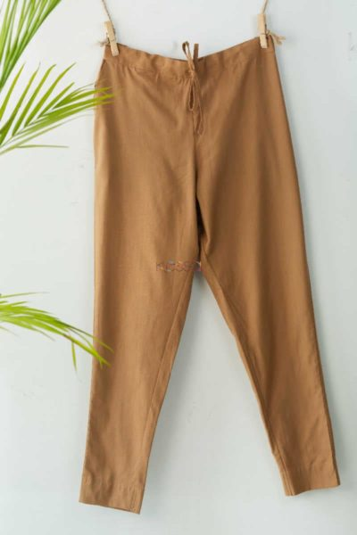 Wsp01 Pants With Pocket Elasticated Waist Brown Featured