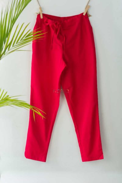 Wsp01 Pants With Pocket Elasticated Waist Magenta Featured