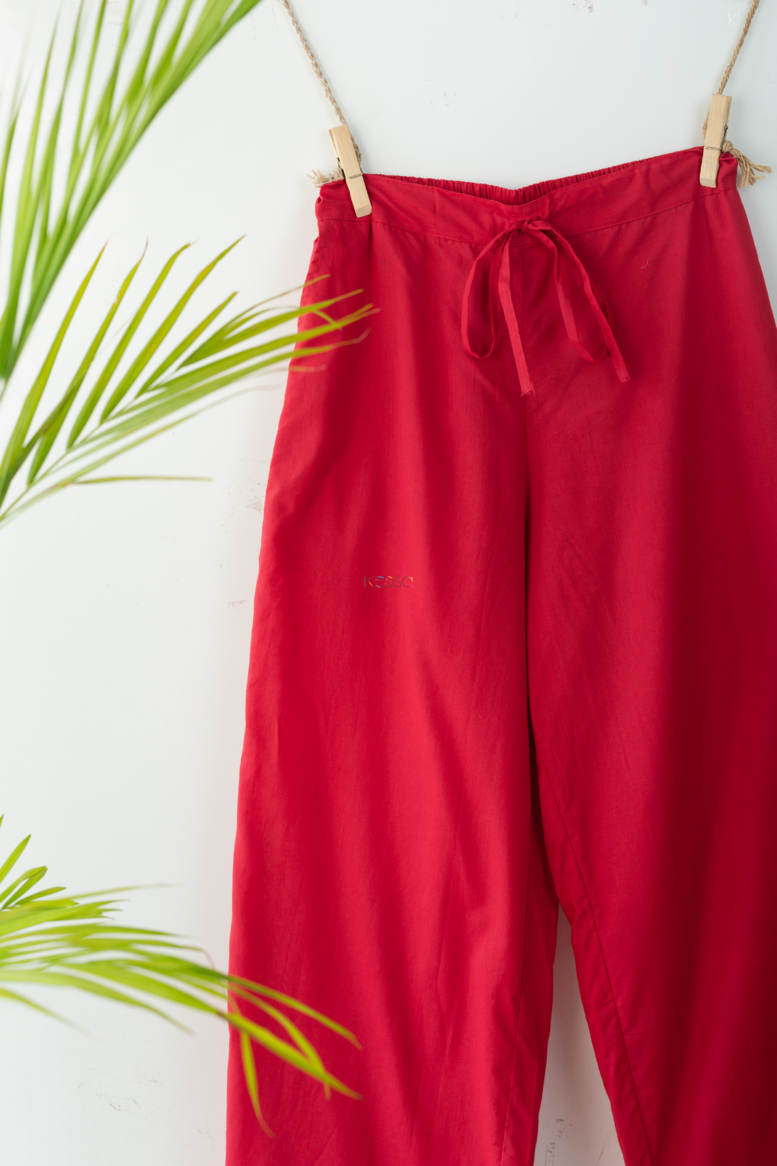 Wsp02 Palazzo With Pocket Elasticated Waist T Red Look Hd