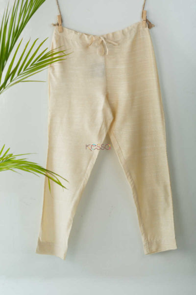 Ws207p Cotton Silk Pants Pocket Elasticated Waist Off White Featured
