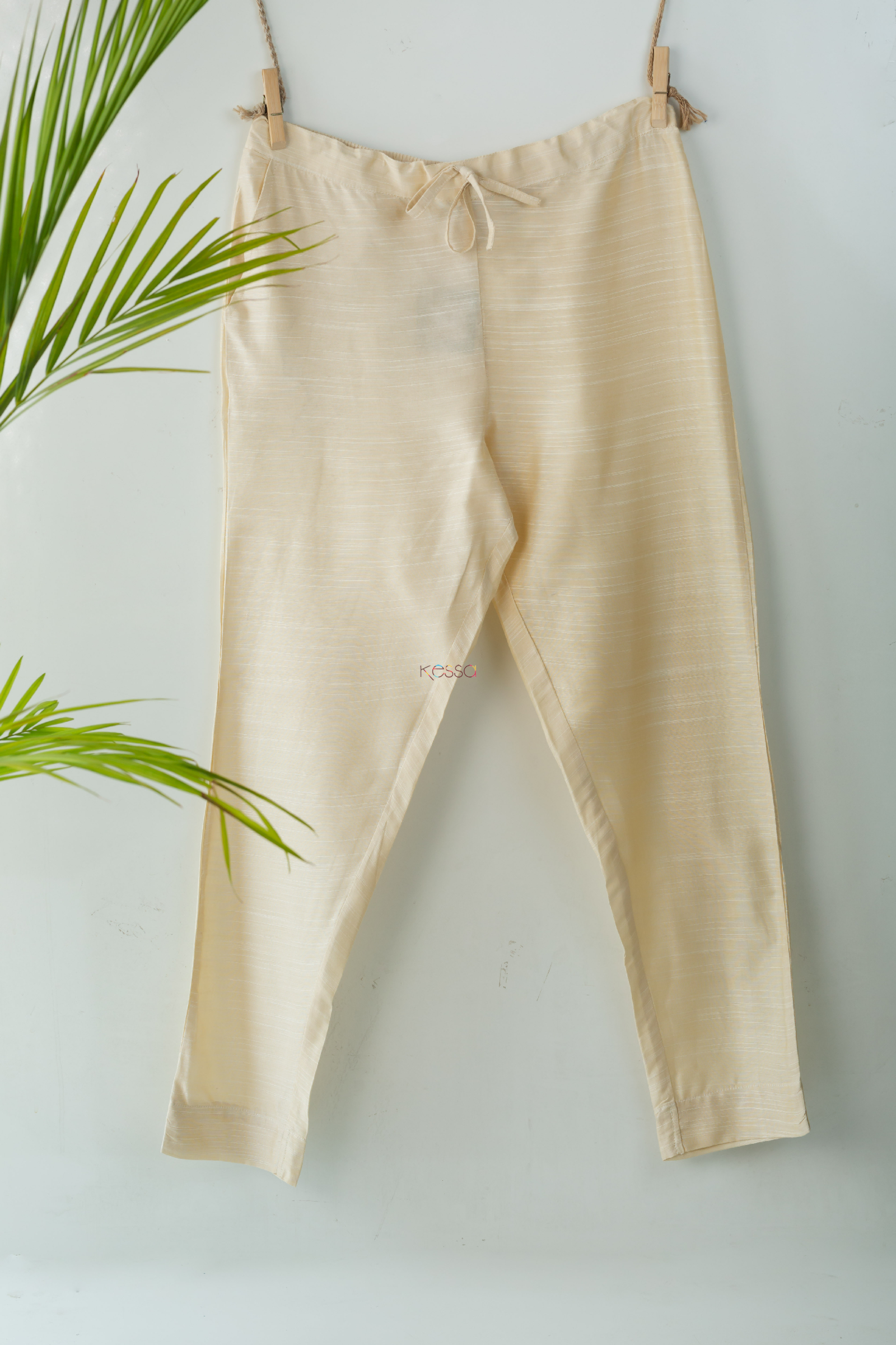 Ws207p Cotton Silk Pants Pocket Elasticated Waist Off White Featured Hd
