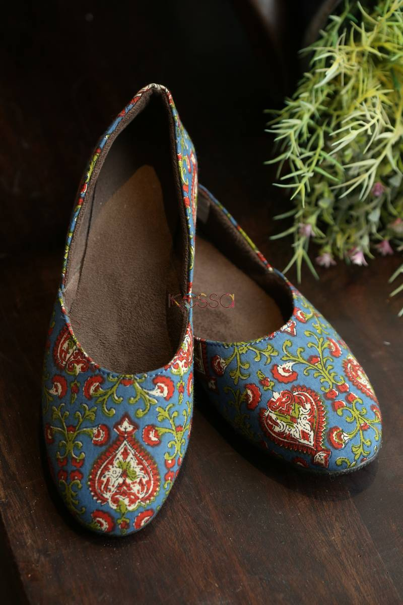 Maroon Blue Shoes 1