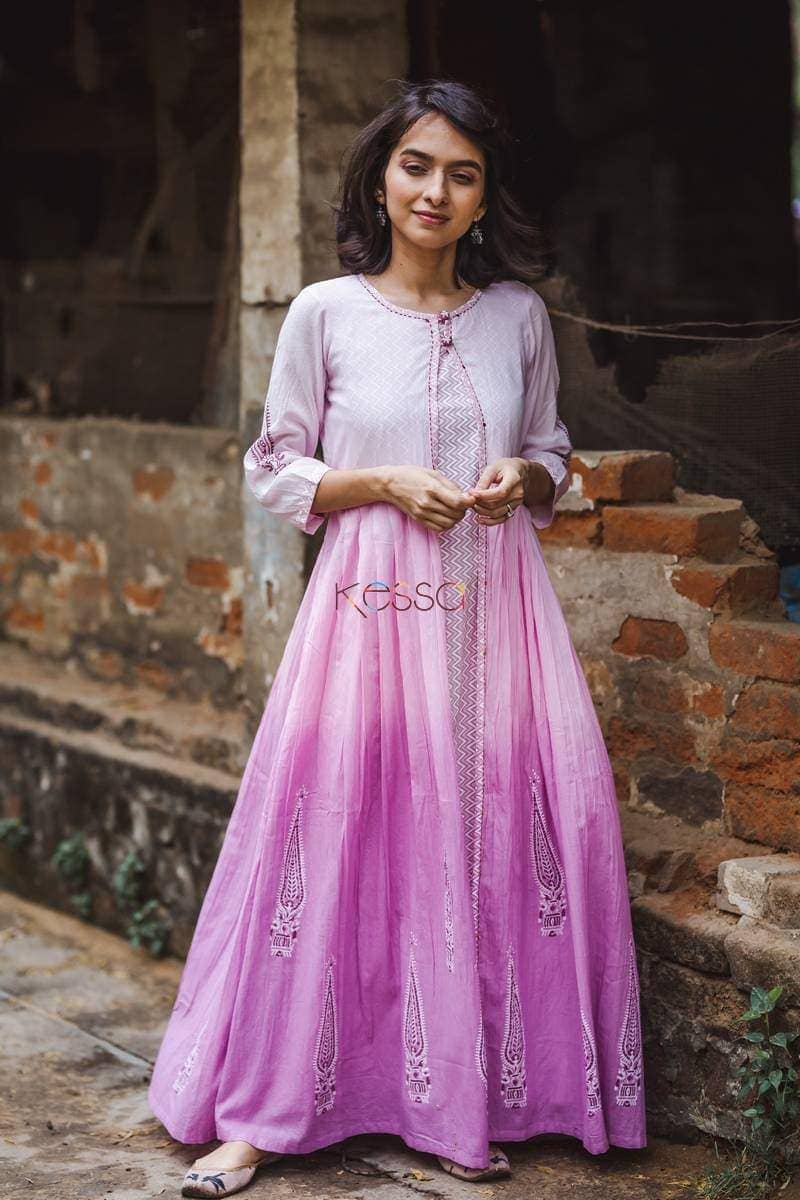 Ombre Pink Purple Dress Front