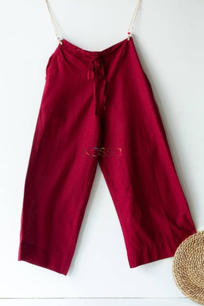 Wsp02 Palazzo With Pocket Maroon