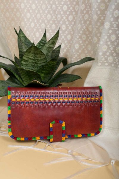Kessa Kewa03 Buckle Style Camel Leather Handcrafted Wallet Featured