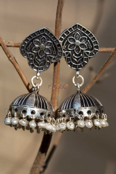 Kt104 Silver Half Circle Earrings Featured