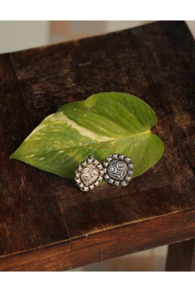 Kt132 Silver Tribal Studs Featured