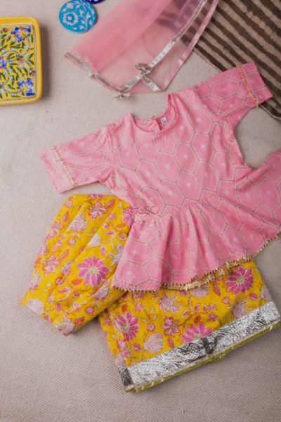 Kessa Aj13 Charm Pink And Yellow Girl Complete Set Featured
