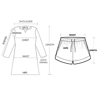 Full Sleeves Top Shorts Set Size Chart Final Pic