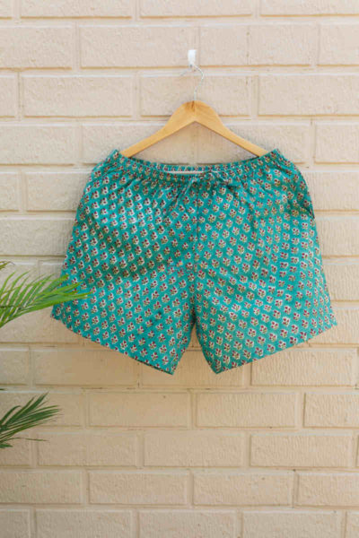 Kessa Wsrs01 Eastern Blue Printed Shorts Featured