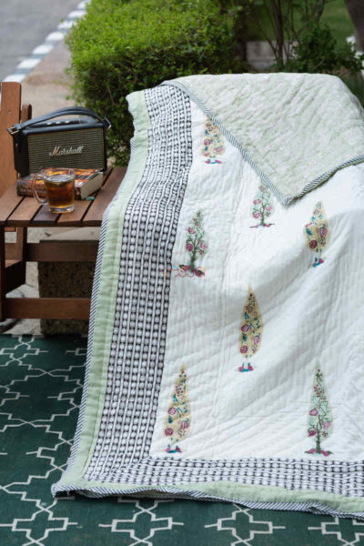 Kessa Kaq134 Catskill White Double Bed Quilt Featured