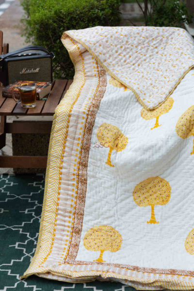 Kessa Kaq136 White Double Bed Quilt Featured