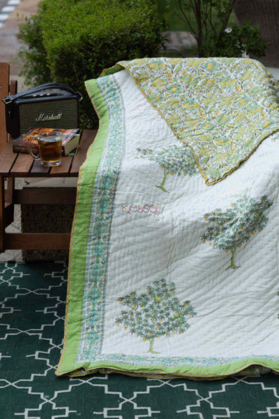 Kessa Kaq137 Mystic White Double Bed Quilt Featured