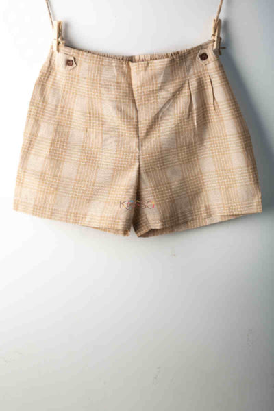 Kessa Wss02 Harvest Gold Printed Shorts Featured