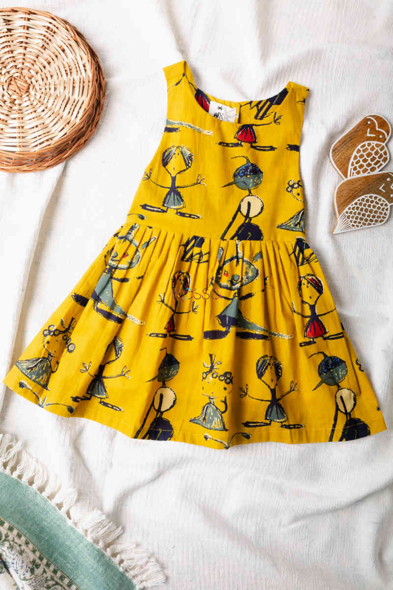 Kessa Dek27 Ahlaad Frock With Quirky Prints Featured