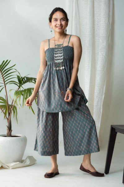 Kessa Kcb08 Badra Co Ord Set With Bagh Print Featured