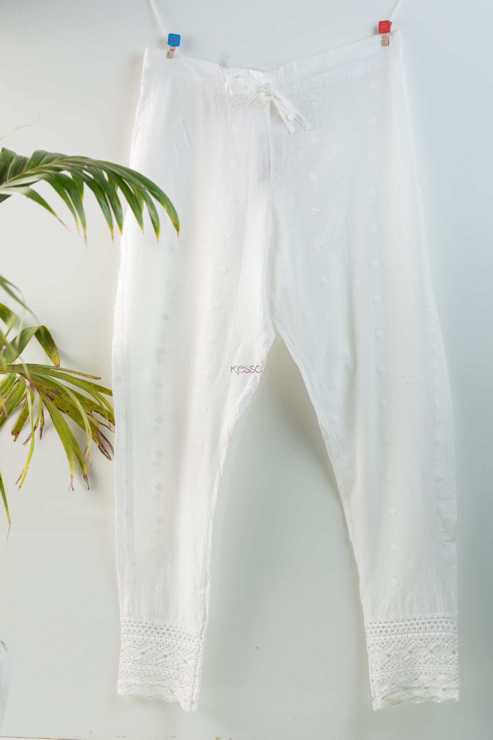 Kessa Ve06 Lace White Cotton Muslin Pant With Lace Featured Hd
