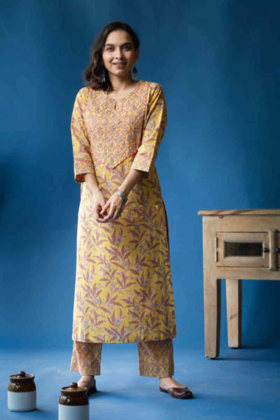 Kessa Avdaf38 Soha Kurta Pant Set With Embroidery And Sequin Details Featured
