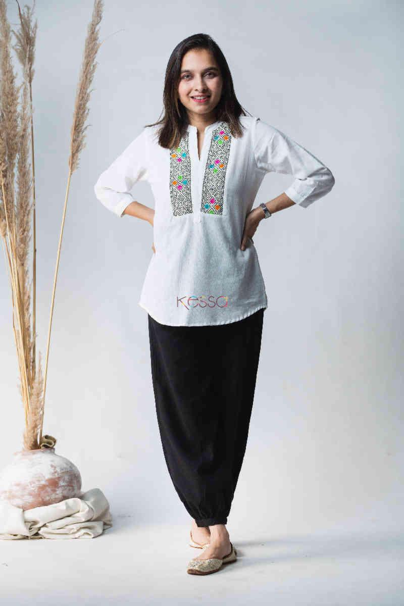 Kessa Avdaf40 Badra Top With Embroidery Details Featured
