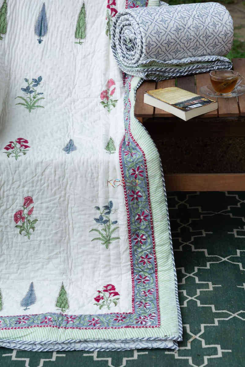 kessa kaq152 casper grye and white single bed quilt featured