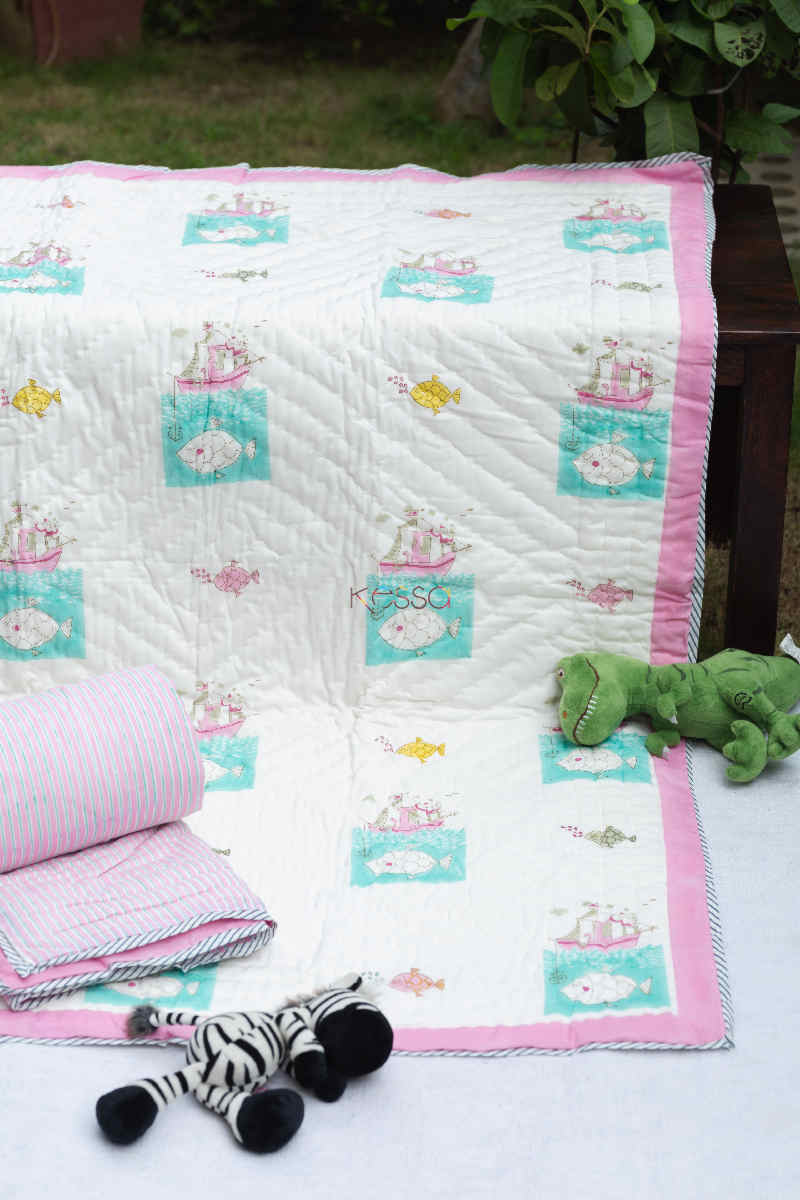 kessa kaq157 bulbula baby quilts with hand block print featured