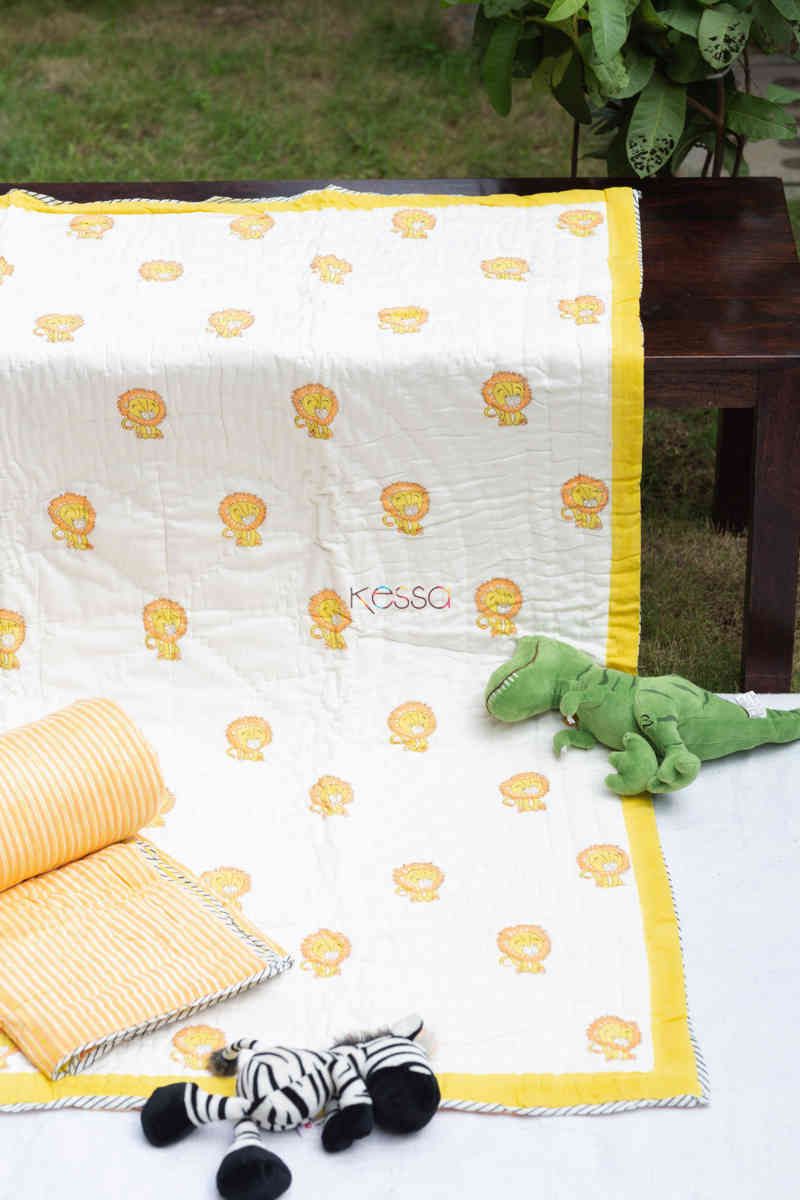kessa kaq160 baadshah baby quilts with hand block print featured